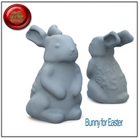 3d model of bunny easter stl printable