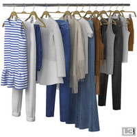 Clothes on Hangers 06