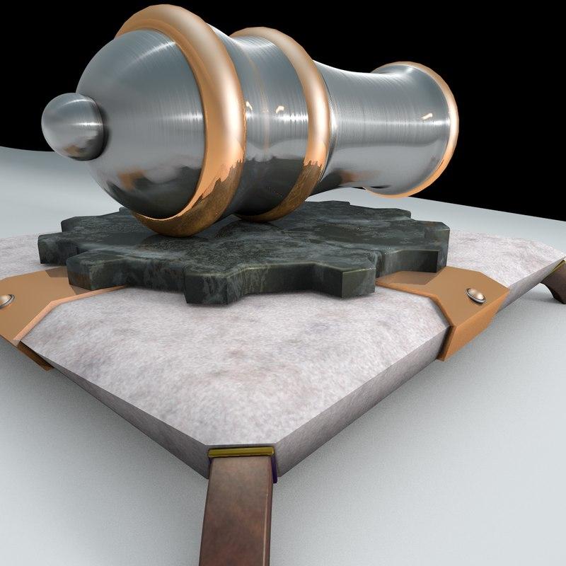 clash clans cannon 3d model