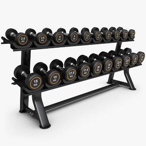 3d dumbbell rack model