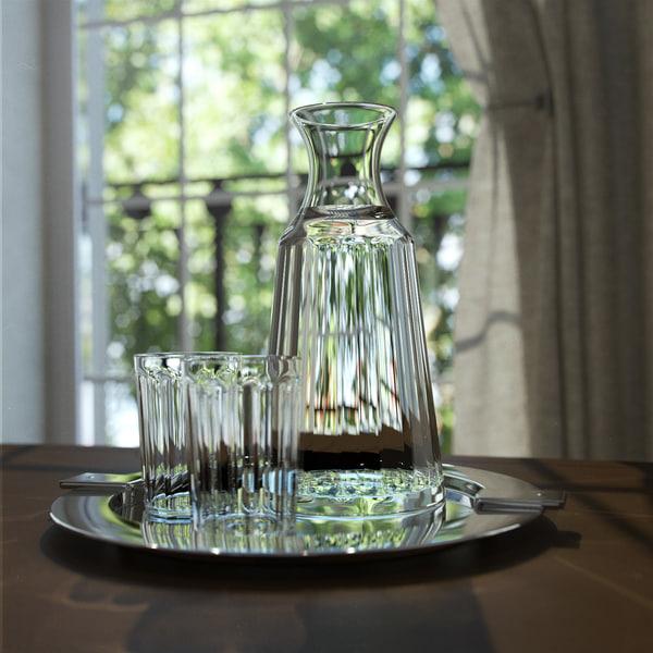 3d model decanter glasses