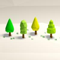 trees pack 3 3d model