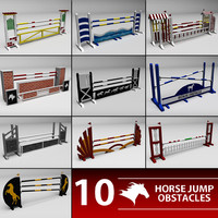 horse jumping obstacle 3d model