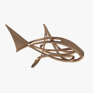 fish golden gold 3d max