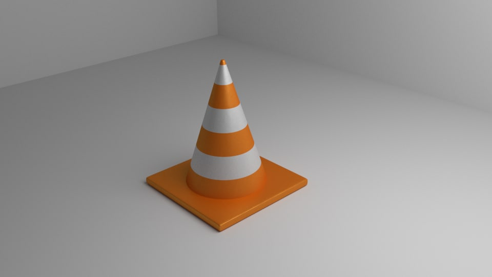 traffic cone 3d dxf