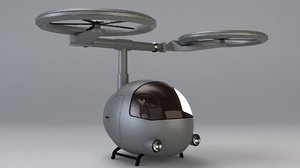 3d sifi- helicopter