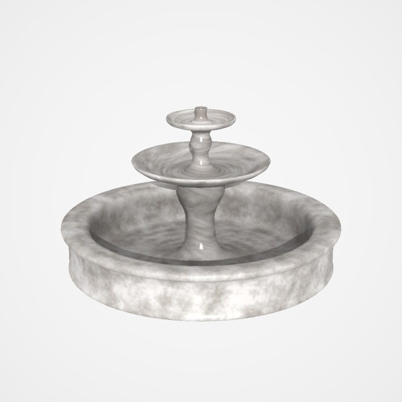 3d obj fountain lightwave