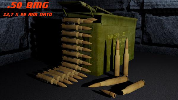 50 bmg ammunition box fbx