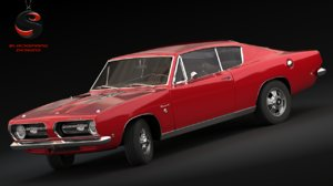 3d model plymouth barracuda s 1968