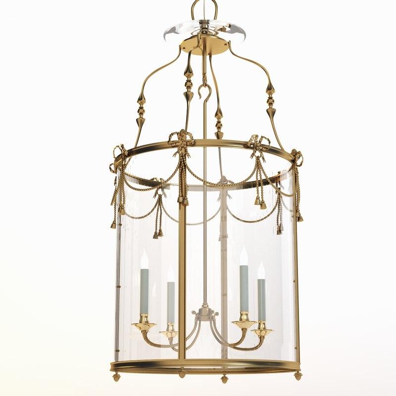 3d model of chandelier classic