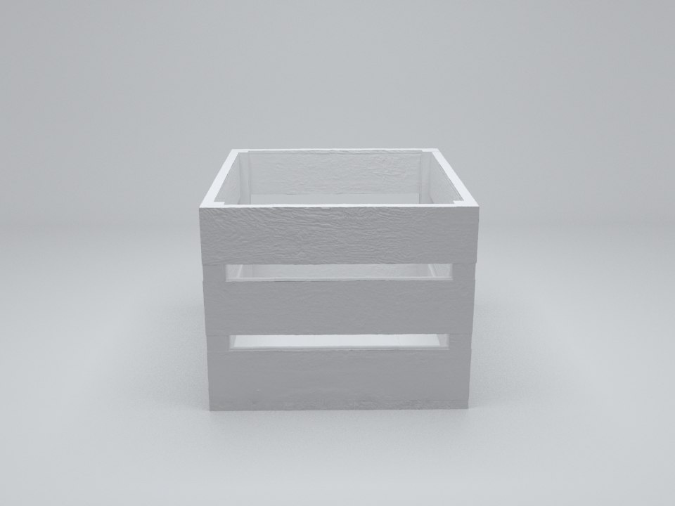 3d model of wooden crate