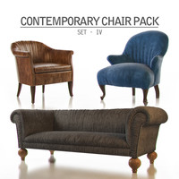 3d model contemporary chair pack -
