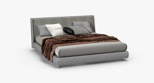 3d minotti spencer bed model