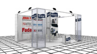 cnc exhibition stand design 3d model
