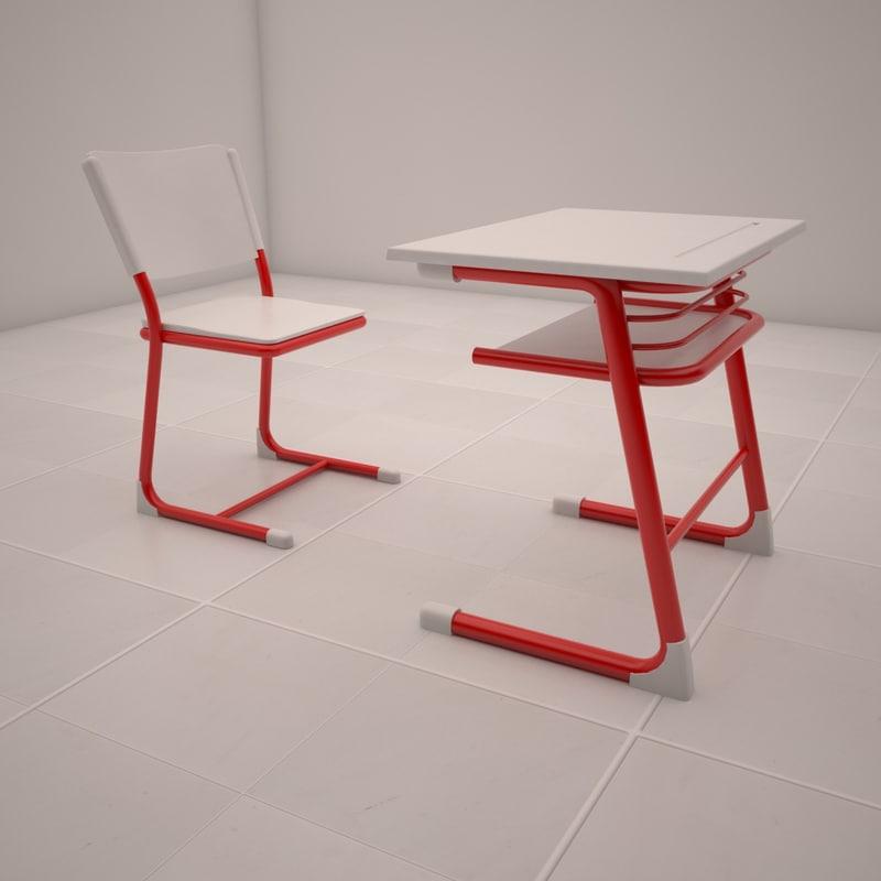 3ds max school desk
