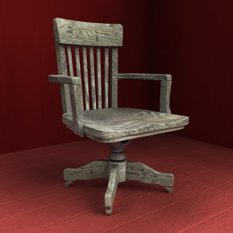 old wooden armchair 3d model