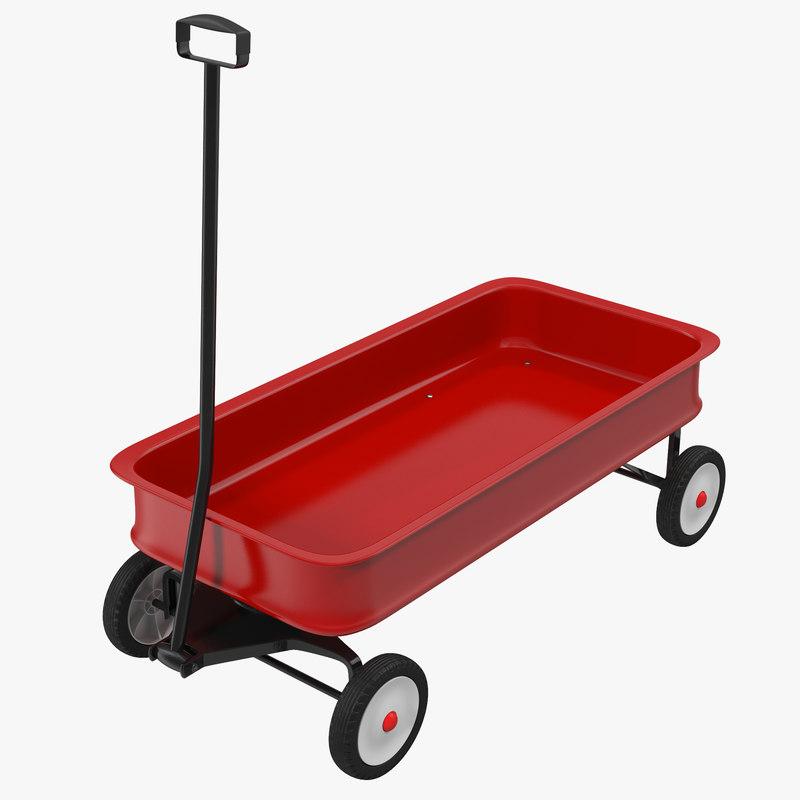 3d childs wagon 2 generic model