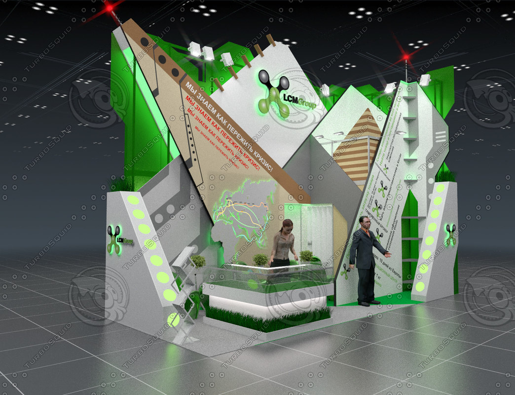 Exhibition stand for the transport company