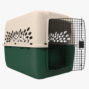 large pet carrier modeled 3d model