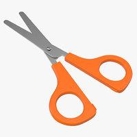 Scissors 2 Orange 3D Model
