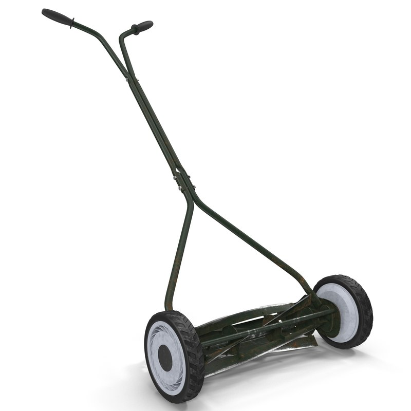 3ds vintage push mower