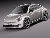 3d volkswagen beetle 2012 model