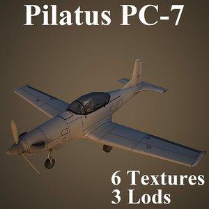 pilatus air low-poly 3d model