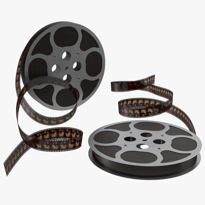 3ds max video film reel set