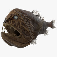 3d model fangtooth fish 2