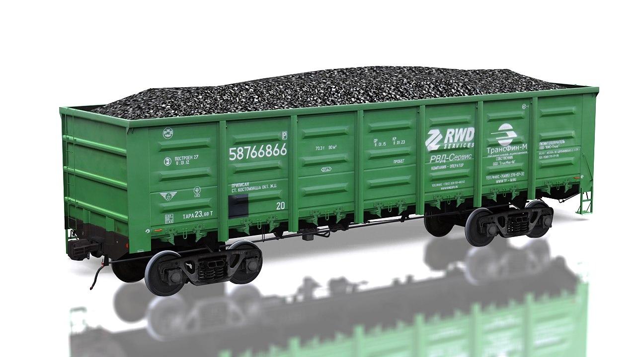 traincars train 3d max