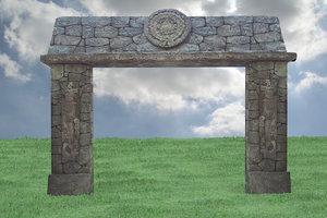 aztec gate 3d model