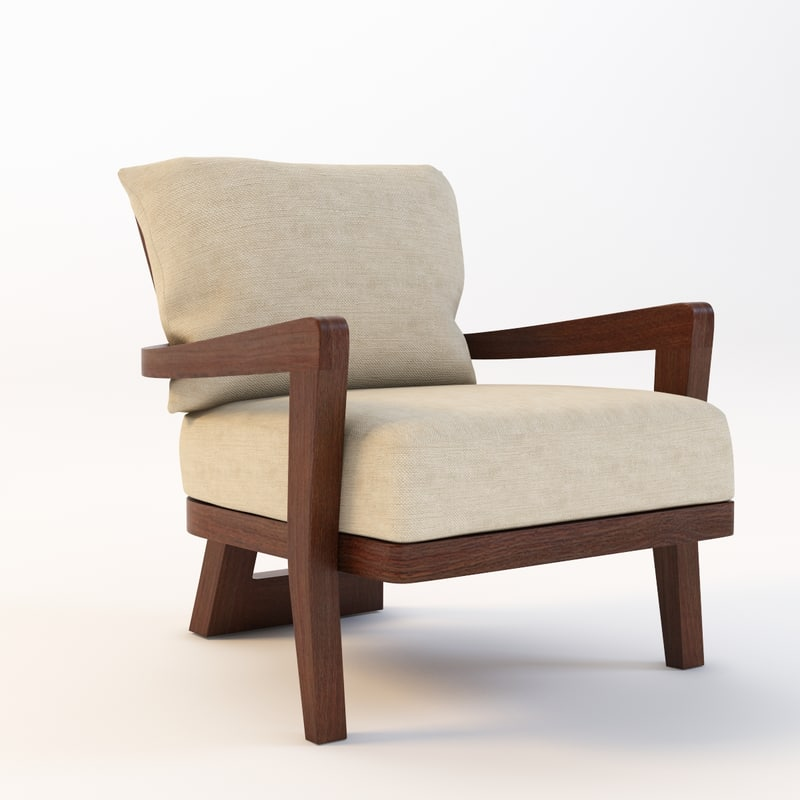 hourglass lounge chair 3d 3ds