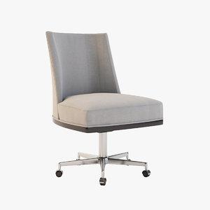 3d 3ds armless office chair