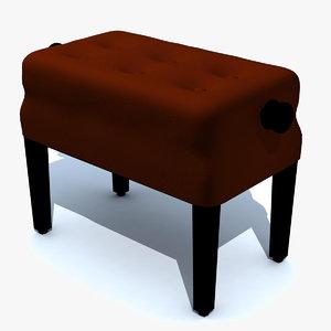 piano bench 3d model