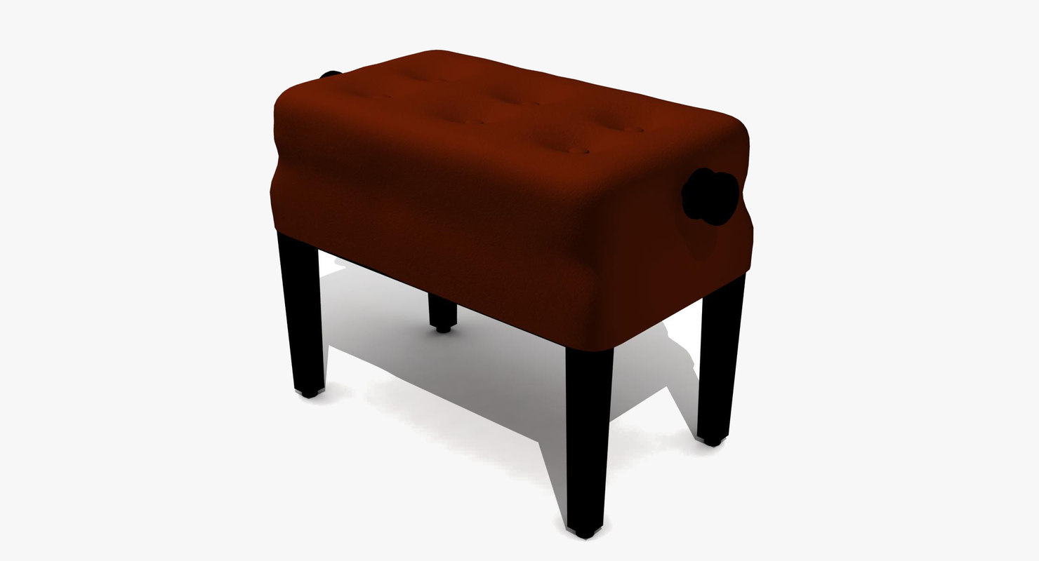 piano bench 3d model