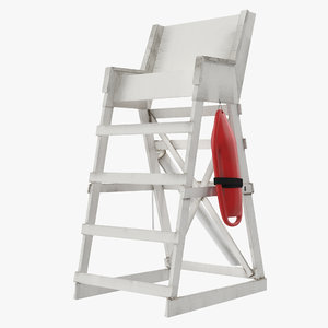 3d model lifeguard chair