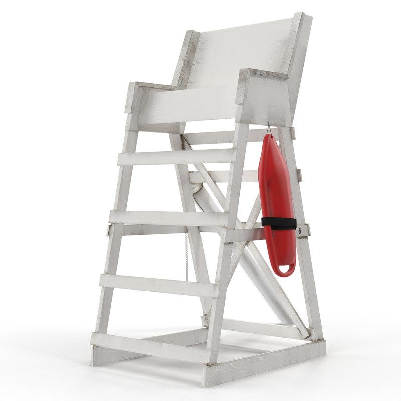 3d model lifeguard chair