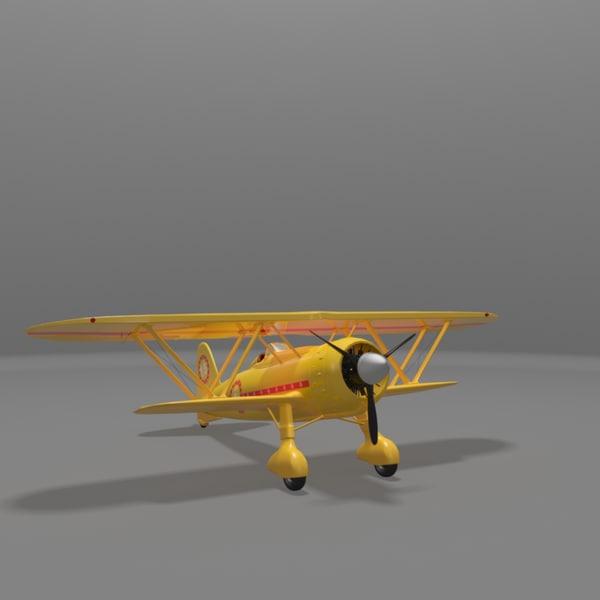 3d model fiat cr42 falco fighter