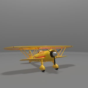 3d model fiat cr42 falco fighter