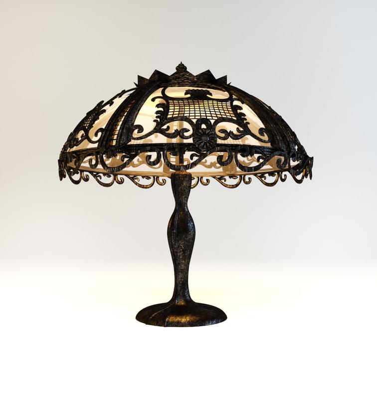 3d model lamp art nouveau