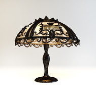3d model lamp art nouveau