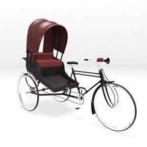 3d model cycle rickshaw