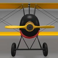 3d model gabardini biplane