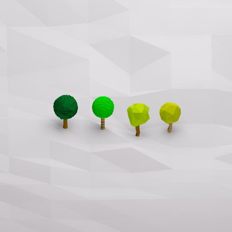 cartoon trees 3d max