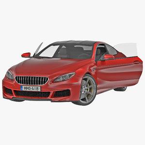 3d generic sedan rigged model