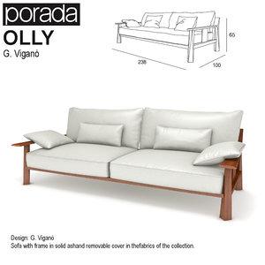 sofa porada olly 3d max