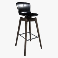 3d model of bar stool