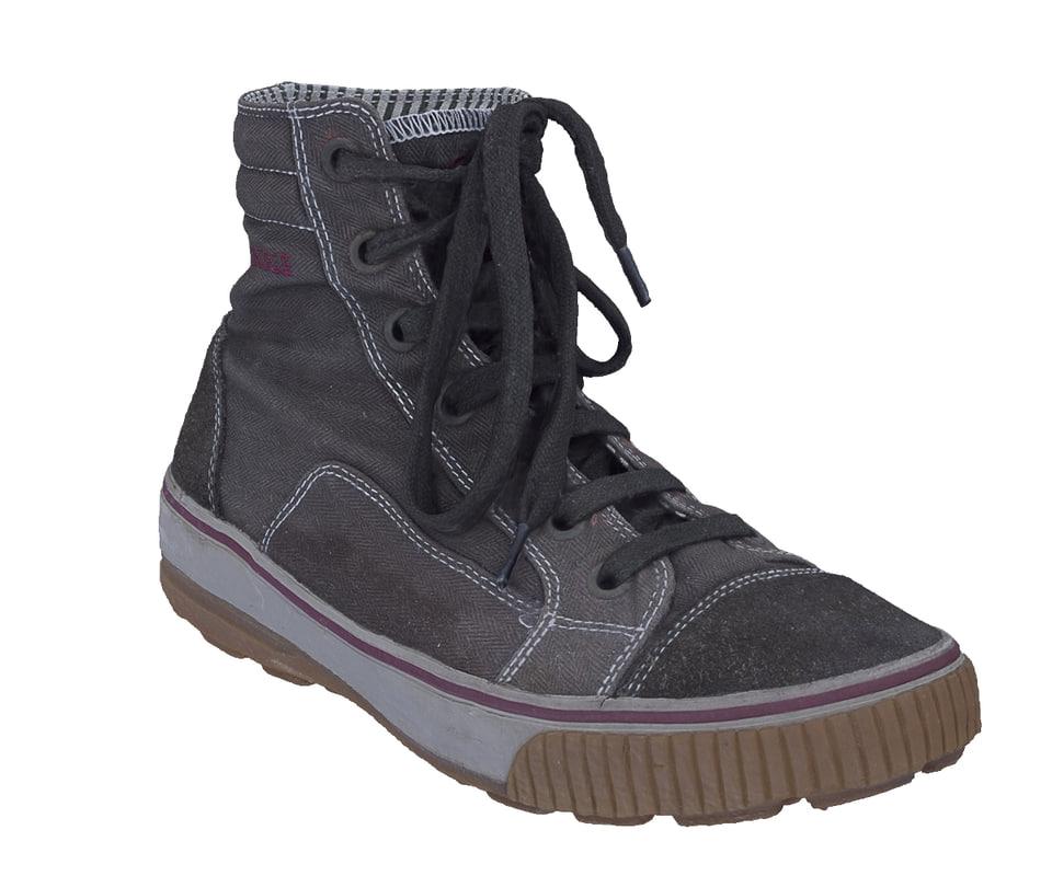 3d scan laced sneaker