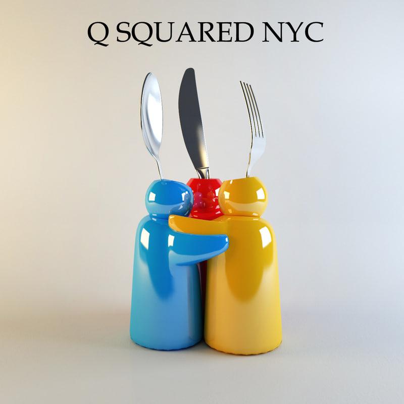 cutlery set 3d max