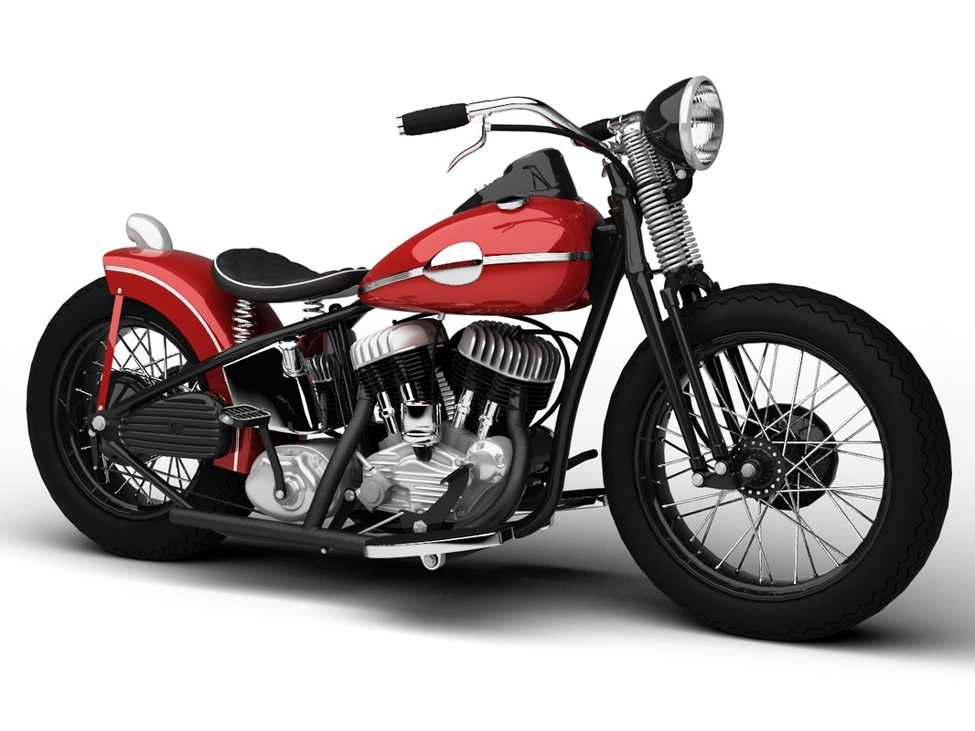 dxf harley davidson wla bobber 1945. Black Bedroom Furniture Sets. Home Design Ideas